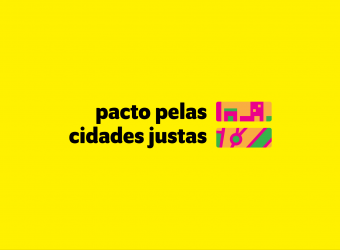 imagem com a identidade visual da iniciativa pacto pelas cidades justas